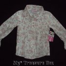 NWT JUST FRIENDS Lightweight Long sleeved Floral Blouse