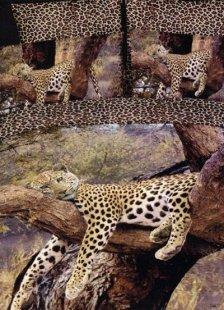 Unique Deep Brown Cotton 4-Pc Leopard Printed Bedding Set