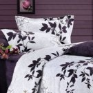 4-pc Beautiful White Floral Thicken Brushed Duvet Cover Bedding Set