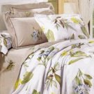 4-pc Comfortable Light Apricot Colored Cotton Duvet Cover Bedding Set