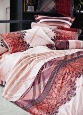 4-pc Beautiful Brown Cotton Floral Reactive Print Duvet Cover