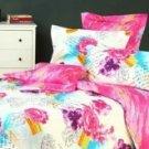 4-pc Comfortable Pink Floral Cotton Duvet Cover