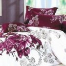 4-pc Beautiful Purple Cotton Floral Reactive Print Duvet Cover