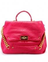 Glamorous Red Fastener  Adjustable Womens Shoulder Bag