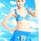 Blue Two-Piece Womens Swimsuit