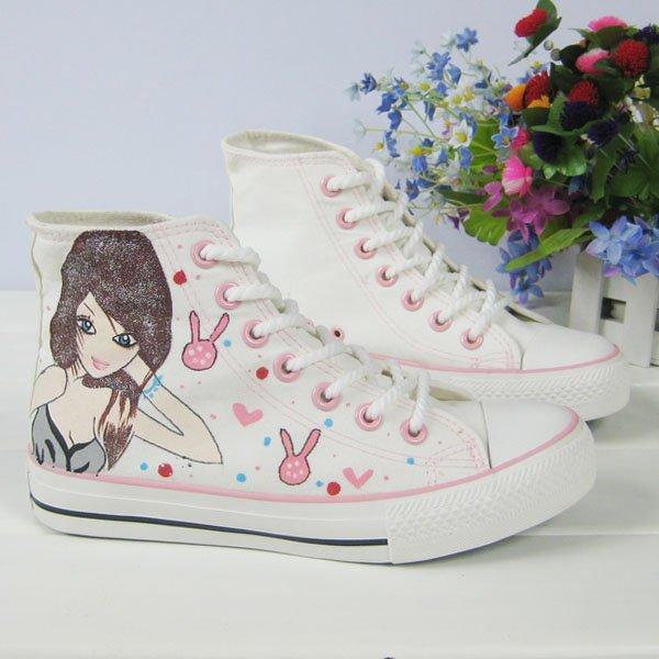 Painting Shoes High Cut Shoe Jean Shoes Appreal Footwear Lady shoes Canvas shoes   Shoes