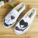 Low Cut Shoe Elastic Shoes Painting Shoes  Jean Shoes Appreal Footwear Lady shoes Canvas Shoes Shoes