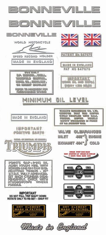 Vintage Decals for New Triumph Bonneville