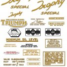 1964-67: Triumph Trophy Competition Special Decals - Triumph TR6C TR6SC Decals