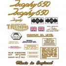 Triumph Trophy Decals: 1966-67: TR6 TR6C TR6R DecalSet