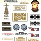 1970: BSA LIGHTNING - RESTORERS DECALSET - BSA A65L  Stickers (Adhesive Transfers)