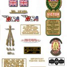 1968-69: B44SS - BSA SHOOTING STAR DECALS - Decal Set