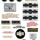 1974-76: T150 T160V - DECAL SET - Triumph Trident