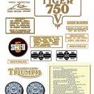 TR7RV: 1973-75- DECAL SET - OIF  Triumph Tiger