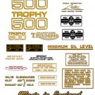 T100C TR5C: 1968-72 - DECAL SET- Triumph Trophy