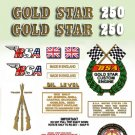 1971-72:  B25T - DECAL SET- BSA Gold Star