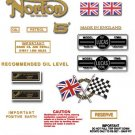Norton Commando 750S  Decals - RESTORERS DECALS SET