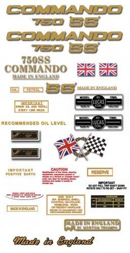 Norton Commando 750SS decals - RESTORERS DECAL SET