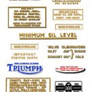 1966-68: Bonneville T120 T120R Decals - DECAL SET- Triumph Bonneville Decals