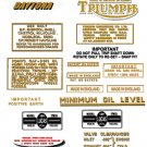 1973-74: T100R -DECAL SET- Triumph Daytona Decals