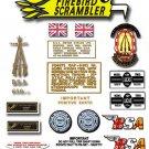 1972: A65 FS - BSA FIREBIRD SCRAMBLER DECALS - Set