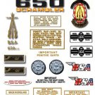 1971: A65 FS - BSA FIREBIRD SCRAMBLER DECALS - Set