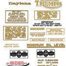 1970-72: T100R T100T -DECAL SET- Triumph Daytona Decals