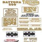 1969: T100R T100T - DECAL SET - Triumph Daytona Decals