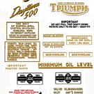 1968: T100R T100T - DECAL SET - Triumph Daytona Decals
