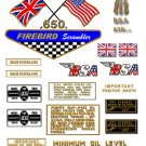 1968 to 69: A65 FS - BSA FIREBIRD SCRAMBLER DECALS -Set