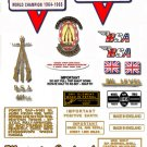 BSA B44VS: 1967 to 68 - DECAL SET - BSA Victor Special stickers (adhesive transfers)