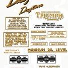 1966-67:T100R T100T -DECAL SET-Triumph Daytona Decals