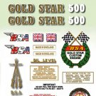 1971-72:  B50T - DECAL SET- BSA Gold Star
