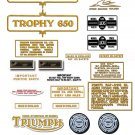 TR6C: 1971-73 - DECAL SET- Triumph Trophy