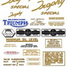 TR6C TR6SC: 1959-63 -DECAL SET- Triumph Trophy Special