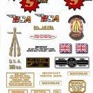 1962-65: BSA Sport Star Decals - BSA SS90 Restorers Decals