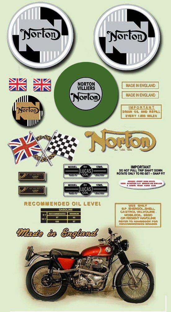 1968-70: Norton P11 Decals -  RESTORERS DECAL SET