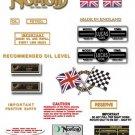 1973: Norton Commando 850 MkII Decals - Commando 850 Mk2 decalset