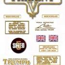 1972: Triumph Trident Decals - Triumph T150 T160 Restorers Decals