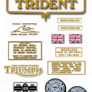1971-72: Triumph Trident Decals  -  Triumph T150 Restorers Decal set