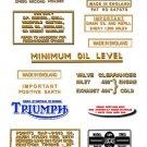 1964-67: Triumph Bonneville TT Special Decals - Triumph Bonneville T120C decals