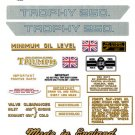 1968: Triumph Trophy Decals -  RESTORERS DECAL SET - Trophy TR25W 250cc