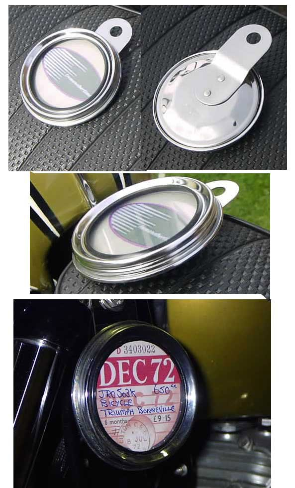 TAX DISC HOLDER - Classic Traditional Style in Stainless Steel