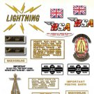 1969: BSA  LIGHTNING RESTORERS DECALSET - BSA A65L Stickers (Adhesive Transfers)