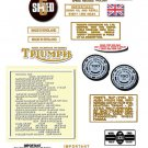 1974: Bonneville T140 T140V  T140RV Decals -PART SET- Triumph Bonneville Decals