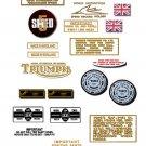 1974: Bonneville T120V T120RV Decals - PART SET- Triumph Bonneville  Decals