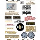 1975-82: Bonneville T140V T140E T140D Decals - PART SET - NTV Triumph Restorers Decals