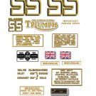 1971:Triumph T25SS Blazer SS Decals- Triumph T25SS Restorers Decals