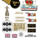 1966: BSA A50 Royal Star Decals - Royal Star  Restorers Decals