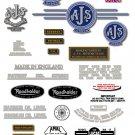 1962-63: AJS Model 14CSR Decals - AJS M14  restorers decals (Silver or Gold)